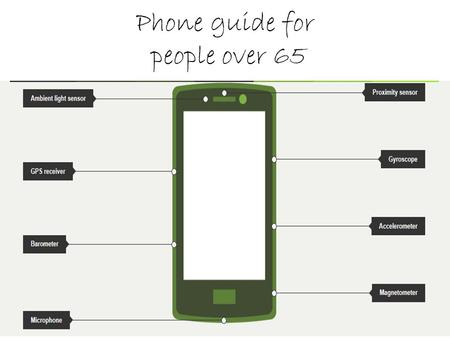 Phone guide for people over 65. Not Smart Phones.