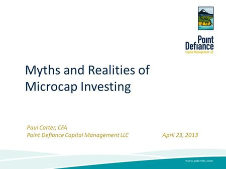 Myths and Realities of Microcap Investing