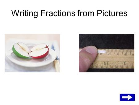 Writing Fractions from Pictures