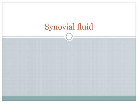 Synovial fluid. Definition Synovial fluid is a thick, stringy fluid found in the cavities of synovial joints.synovial joints With its egg-like consistency.