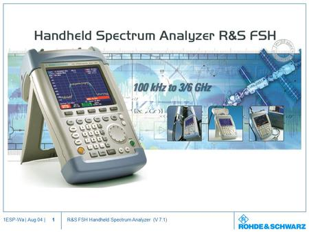 Handheld Spectrum Analyzer R&S FSH