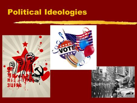 Political Ideologies The Political Spectrum  The political spectrum is a line along which are placed the various political ideologies and political.