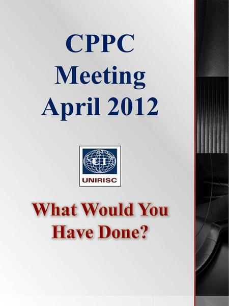 "CPPC Meeting April 2012. ""Missing Dish pack containing 3,000 cd's."" Amount claimed - $7,500 CLAIM 1: Initial Observations CD's packed in a dish pack?"