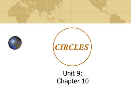 CIRCLES Unit 9; Chapter 10. Tangents to Circles lesson 10.1 California State Standards 7: Prove and Use theorems involving properties of circles. 21: