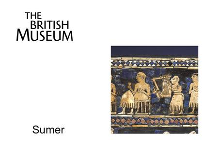 Sumer. Shell plaque from 'Queen' Puabi's Grave Ur, southern Iraq, about 2600-2400 BC Presumed to have been a decoration on a lyre or harp Shell was.