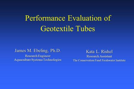 Performance Evaluation of Geotextile Tubes