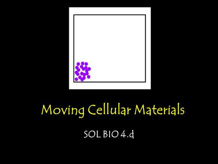 Moving Cellular Materials SOL BIO 4.d. Fluid Mosaic Model: A mosaic is a structure made up of many different parts. The plasma membrane of a cell is composed.