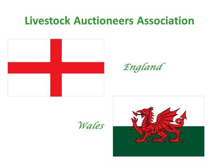 Livestock Auctioneers Association England Wales. Livestock Auctioneers Association 122 Markets (67 with weekly calf sales) £1.85 billion turnover Annual.