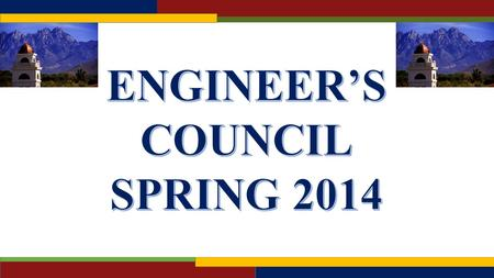 The Engineer's Council (E-Council) is the lead organization that represents the student body and all student organizations within the College of Engineering.