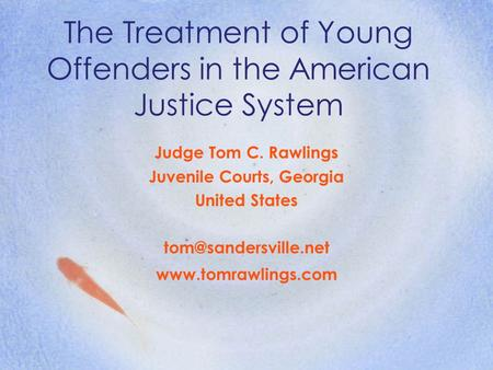 the history of the juvenile justice system in the united states For nonviolent youth involved in the juvenile justice system, incarceration in   while they constitute only 16 percent of the us juvenile population  thirty  percent of incarcerated youth reported a history of either physical or sexual  abuse26.