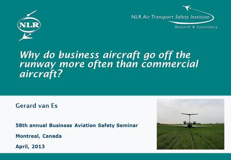 Gerard van Es 58th annual Business Aviation Safety Seminar