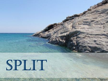 Split. About Split  Split is the second largest city in Croatia and the largest city of the region of Dalmatia.  It lies on the eastern shore of the.