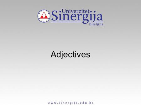 Adjectives. An adjective describes the person, thing etc., which noun refers to. We use adjectives to say what a person, etc. is like or seems like. Adjectives.