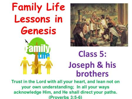 lessons from the life of joseph pdf