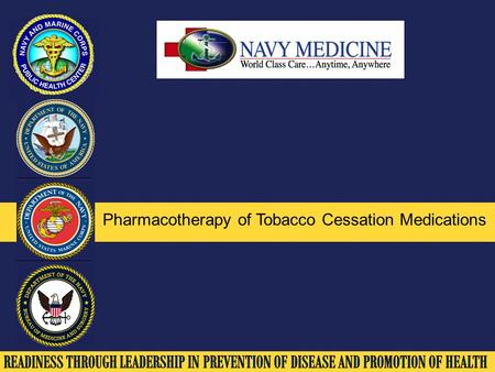 Pharmacotherapy of Tobacco Cessation Medications.