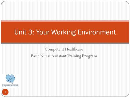Unit 3: Your Working Environment