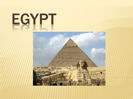 The ancient Egyptians thought of Egypt as being divided into two types of land, the 'black land' and the 'red land'. The 'black land' was the fertile.