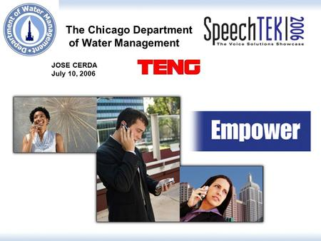 JOSE CERDA July 10, 2006 The Chicago Department of Water Management.