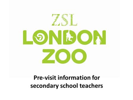 Pre-visit information for secondary school teachers.