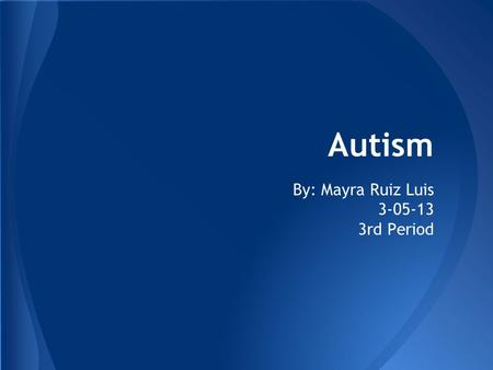 thesis statement about autism