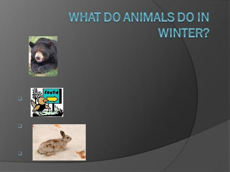      . Hibernate  Hibernation is a state that some animals enter in the winter in order to survive a period when food is not easily available.