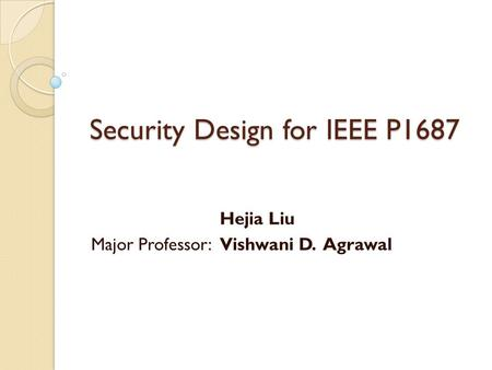 Security Design for IEEE P1687