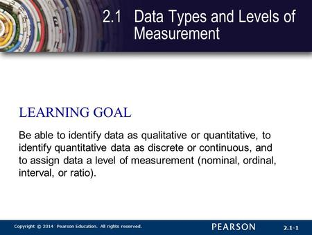 2.1 Data Types and Levels of Measurement