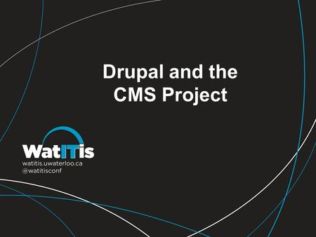 Drupal and the CMS Project. Lesson Learned #1 Keep your modules updated, especially when there are security concerns in the update notes 2010 | The Sky's.