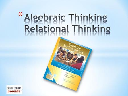 * Develop an understanding of the concept of relational thinking. * Consider how to encourage students to develop and engage in relational thinking. *