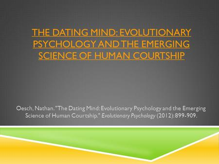 science of mind dating One of the debates in relationship dynamics is the question, are we attracted to similar or different in other words, do birds of a feather flock together, or do opposites attract.