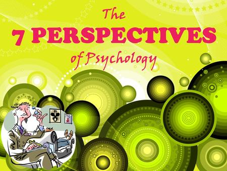 The 7 PERSPECTIVES of Psychology. The Birth of Psychology Wilhelm Wundt - 1879 University of Leipzig – Psychology's first experiment, birth of a science.