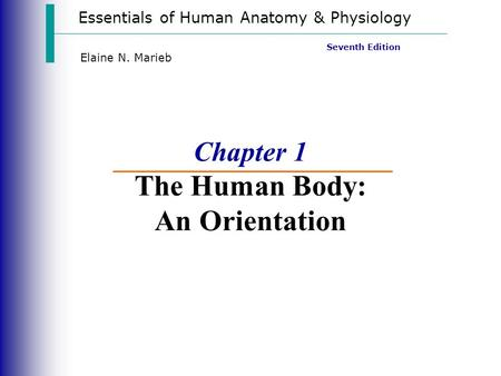 Chapter 1 The Human Body: An Orientation