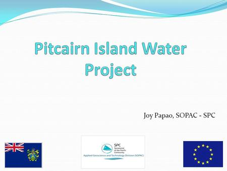Joy Papao, SOPAC - SPC. Pitcairn Island - Locality Map.