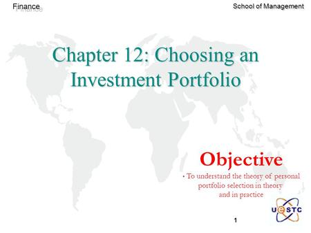 Chapter 12: Choosing an Investment Portfolio