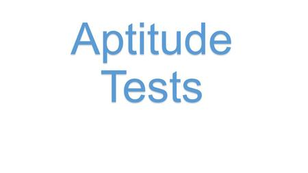 Aptitude Tests. So you are all prepared (the outfit, your on time, you have researched the company etc.). What will they expect from you at the interview.