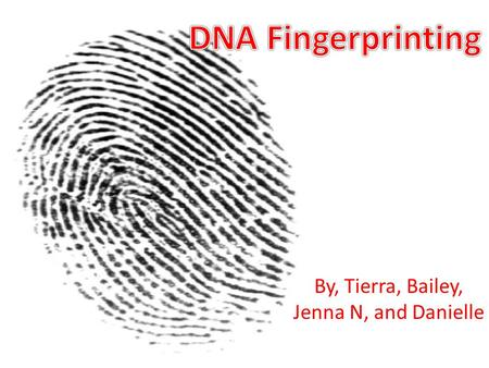 By, Tierra, Bailey, Jenna N, and Danielle.  In the United States, each state independently decides whether DNA can be sampled from arrestees or convicts.