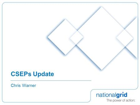 CSEPs Update Chris Warner. 2 Background  Review Group 0157  Incremental Improvements (eg: UNC Modifications 0167, 0180V, 0200)  Ofgem CSEP Group 