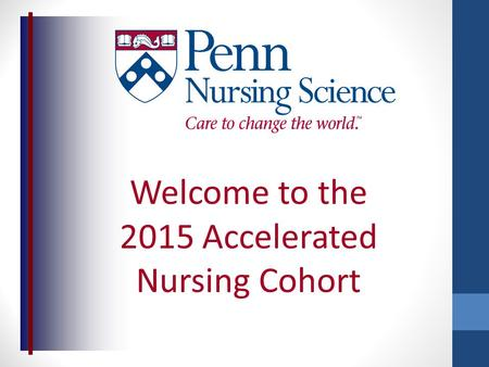 Welcome to the 2015 Accelerated Nursing Cohort. Financial Aid Webinar.