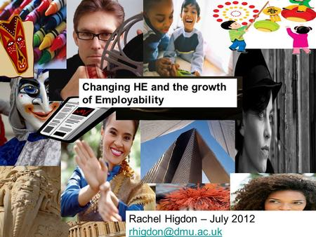 Changing HE and the growth of Employability Rachel Higdon – July 2012
