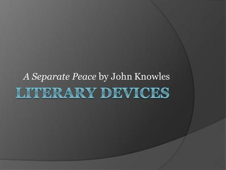 a separate peace analysis 6