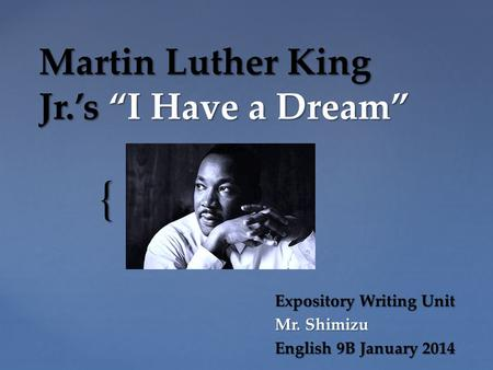 persuasive essay on i have a dream martin luther king A rhetoric analysis of m l king's speech i have a dream essay writing service persuasive essays persuasive speech essays philosophy essays artistic proofs of a subject, argument arrangement and the syntax and language used (martin luther king, jr i have a dream.