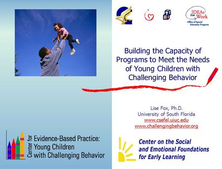 Building the Capacity of Programs to Meet the Needs of Young Children with Challenging Behavior Lise Fox, Ph.D. University of South Florida www.csefel.uiuc.edu.