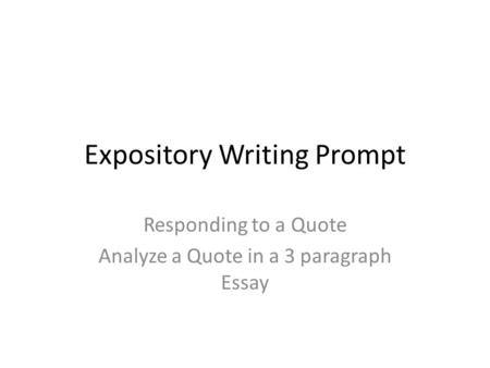 essay three paragraph
