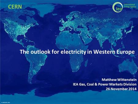The outlook for electricity in Western Europe