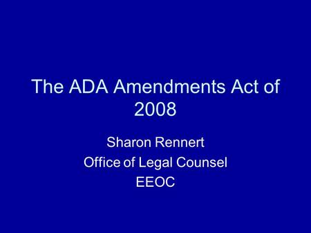 Ada amendments act of 2008 changes