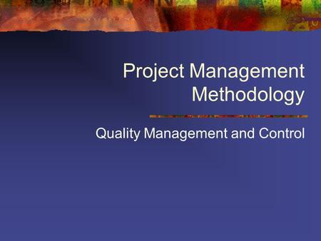 Singular Methodology for Project Management Strategic Planning for Project Management