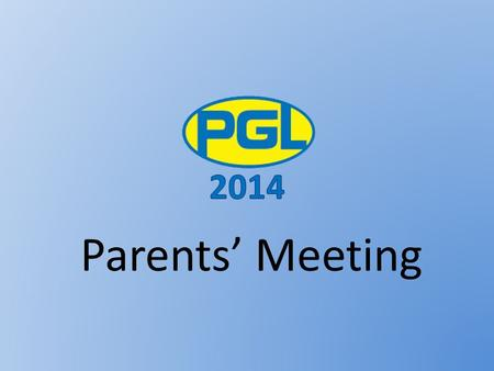 Parents' Meeting. Promotional video Overview Find out what the Year 6 Residential is all about Meet the group leaders Find out what the children will.
