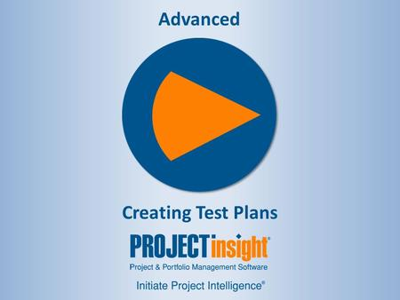 Advanced Creating Test Plans