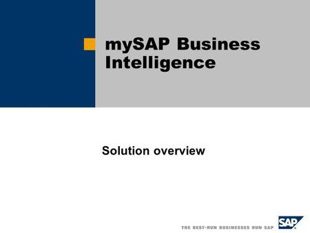 Bi introduction sap pdf