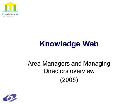 Knowledge Web Area Managers and Managing Directors overview (2005)